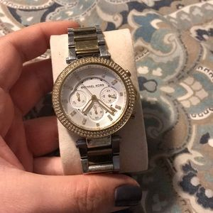 Michaels Kors Two tone stainless steel watch!